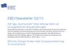 EBD Newsletter 02/2015 erschienen
