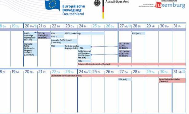 EBD-Kalender zur luxemburgischen Ratspräsidentschaft erschienen