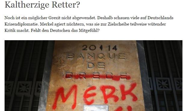 Kaltherzige Retter? Deutsche Welle untersucht deutsches Krisenmanagement