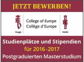 Facebook LIVE-CHAT: College of Europe – Sprungbrett nach Europa