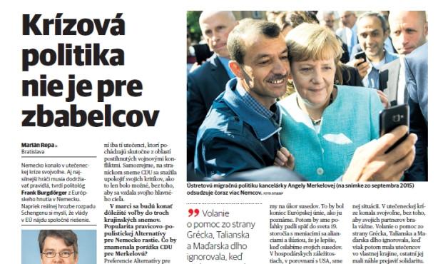 Burgdörfer warnt in der slowakischen Pravda vor Ende des Schengensystems