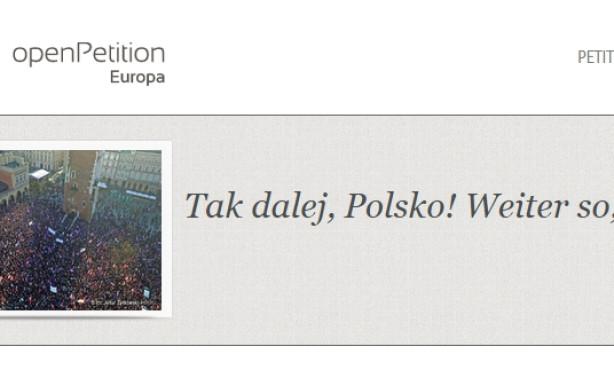 """""""Tak dalej, Polsko!"""" Rückenwind für den Kampf um die Demokratie in Polen"""