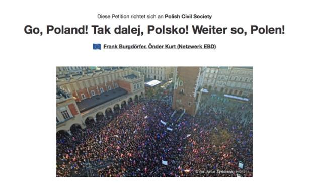 """""""Wir sind und bleiben in Europa"""": EBD-Vorstand unterstützt Polen-Petition"""