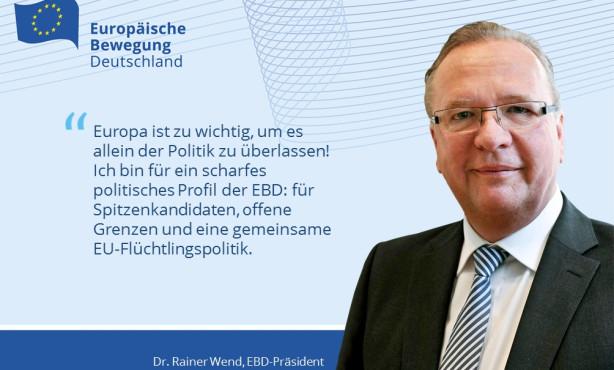 Europäisch denken, handeln und regieren: Leitantrag des Vorstands zur EBD Politik