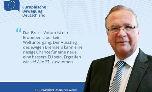 Reiß dich zusammen, Europa! | EBD Präsident Wend zum Brexit-Votum