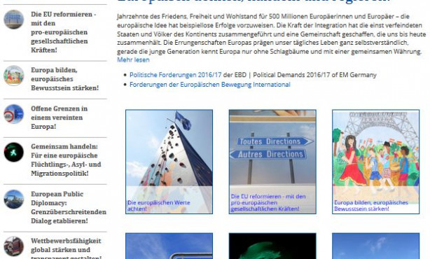 EBD Politik in neuem Gewand auf EBD-Website