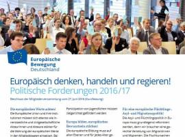 EBD Politik kurz gefasst: Europäisch denken, handeln und regieren!