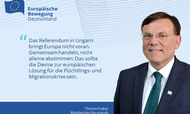 Gemeinsam handeln, statt alleine abstimmen! EBD-Vorstand Fojkar vor Referendum in Ungarn