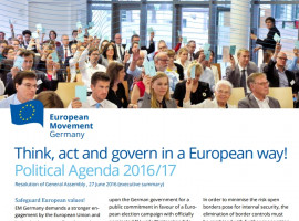EM Germany Political Agenda | Think, act and govern in a European way!