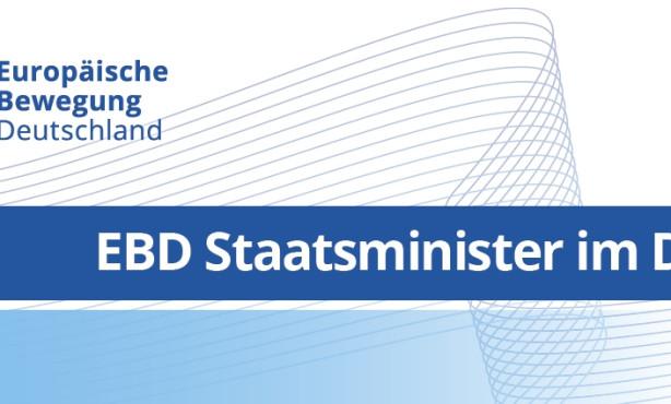 EBD Staatsminister im Dialog: Die Türkei und Europa – wie weiter?