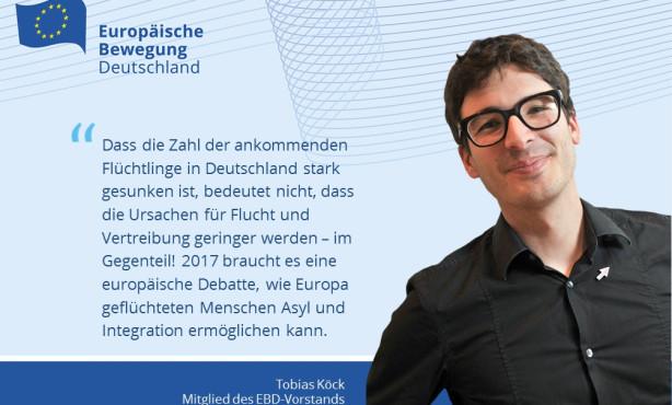 EBD-Vorstand Köck: Ursachen für Flucht und Vertreibung sind nicht geringer geworden