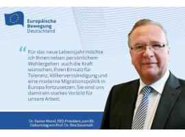 EBD-Präsident Wend gratuliert Ehrenpräsidentin Rita Süssmuth zum 80. Geburtstag