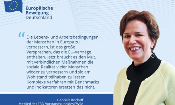 Europa für alle! EBD-Vorstand Gabriele Bischoff kommentiert Mitteilung zur Sozialen Säule