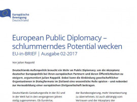 Julian Rappold: European Public Diplomacy: Schlummerndes Potential wecken | EU-in-BRIEF 02/2017