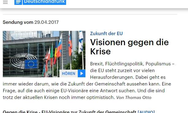 """Bernd Hüttemann im Deutschlandfunk: Das """"Kind"""" EU endlich ernst nehmen"""