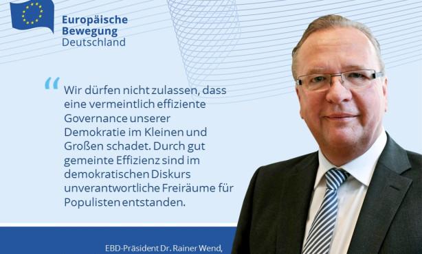 """""""Europapolitik ist Innenpolitik!"""": EBD-Präsident Wend wirbt vor EU-Botschaftern für demokratische Public Diplomacy in Europa"""