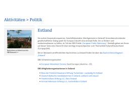 Themenseite zu Estland online | European Public Diplomacy auf EBD-Website im Ausbau