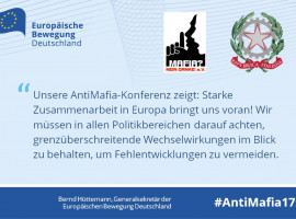 Für Freiheit und Sicherheit! Anti-Mafia-Konferenz mit Mafia! Nein Danke! e.V. und der Italienischen Botschaft