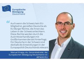 """Manuel Knapp, stv. EBD-Generalsekretär: """"Bundestagswahl auch für Deutsche im Ausland entscheidend!"""""""
