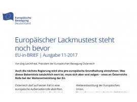 """Jörg Leichtfried, Präsident der EB Österreich, zur Regierungsbildung in Wien: """"Europäischer Lackmustest steht noch bevor"""""""