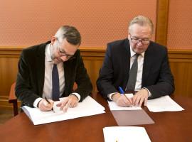 Trockene Tinte unter gemeinsamen Zielen zwischen dem Auswärtigen Amt und der EBD