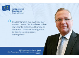 EBD zum Ausgang der Sondierungen der CDU/CSU und SPD
