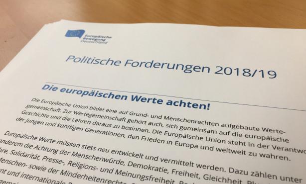Die EBD-Politik 2018/2019 | Start des Konsultationsprozesses