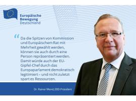 Wend zum Demokratiepaket: Europa braucht keine konkurrierenden Präsident/inn/en!