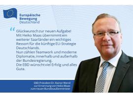 Heiko Maas wird neuer Bundesaußenminister und übernimmt das Amt von Sigmar Gabriel