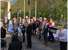 #WeAreInThisTogether | Solidaritätsaktion vor der italienischen Botschaft