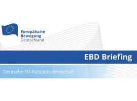 EBD Briefing deutsche EU-Ratspräsidentschaft | 29.06.2020