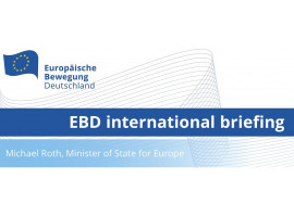 EBD international briefing with Michael Roth, Minister of State for Europe | 24.06.2020