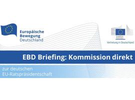 EBD Briefing: Kommission direkt mit Margrethe Vestager, Erste Vizepräsidentin der Europäischen Kommission