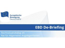 EBD De-Briefing Rechtsstaatlichkeitsdialog im RfAA | 24.11.2020