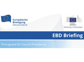 EBD Briefing: Portuguese EU Council Presidency