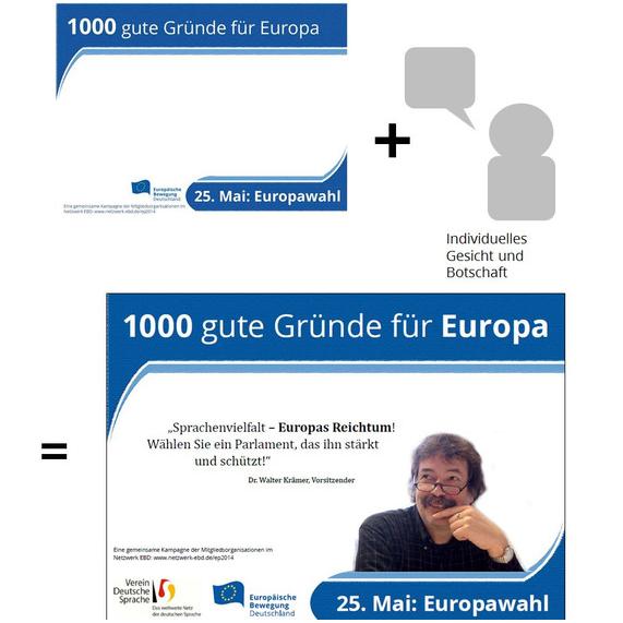 1000 gute Gründe für Europa – Zwischenbilanz vier Wochen vor der Europawahl