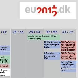 Kalender zur dänischen EU-Ratspräsidentschaft erschienen