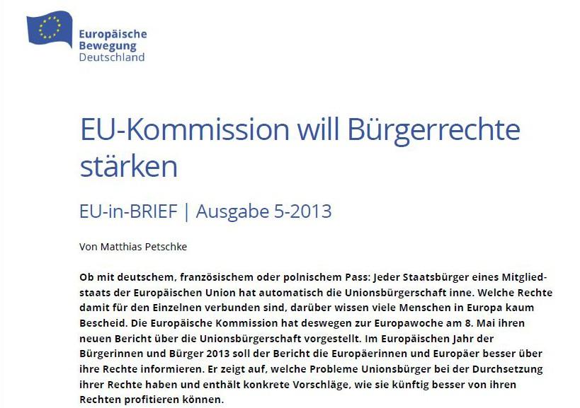 eu kommission will brgerrechte strken - Burgerrechte Beispiele