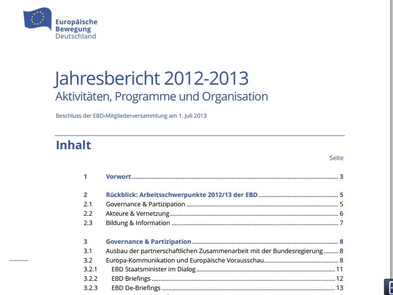 Jahresbericht 2012-2013