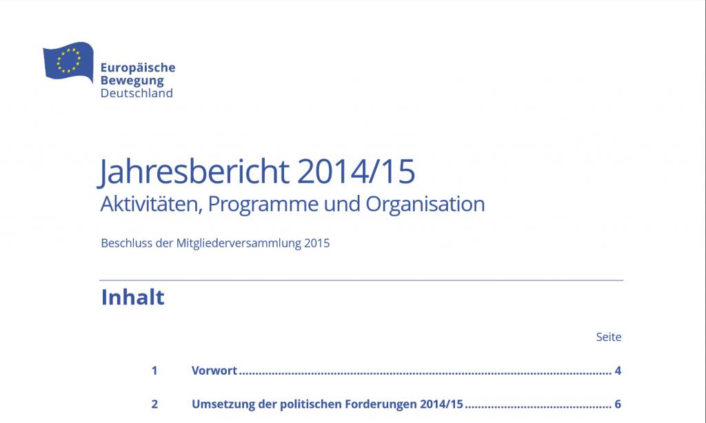 Jahresbericht 2014-15