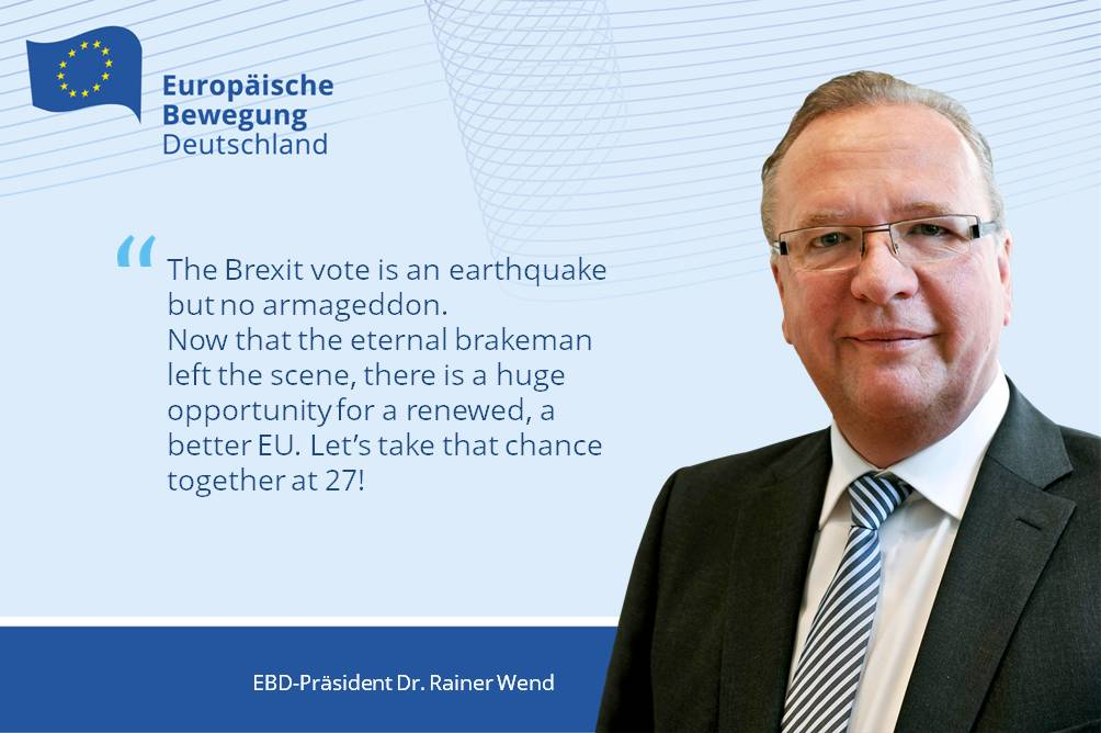 Pull yourself together, Europe! | EM Germany\'s president Wend on the ...
