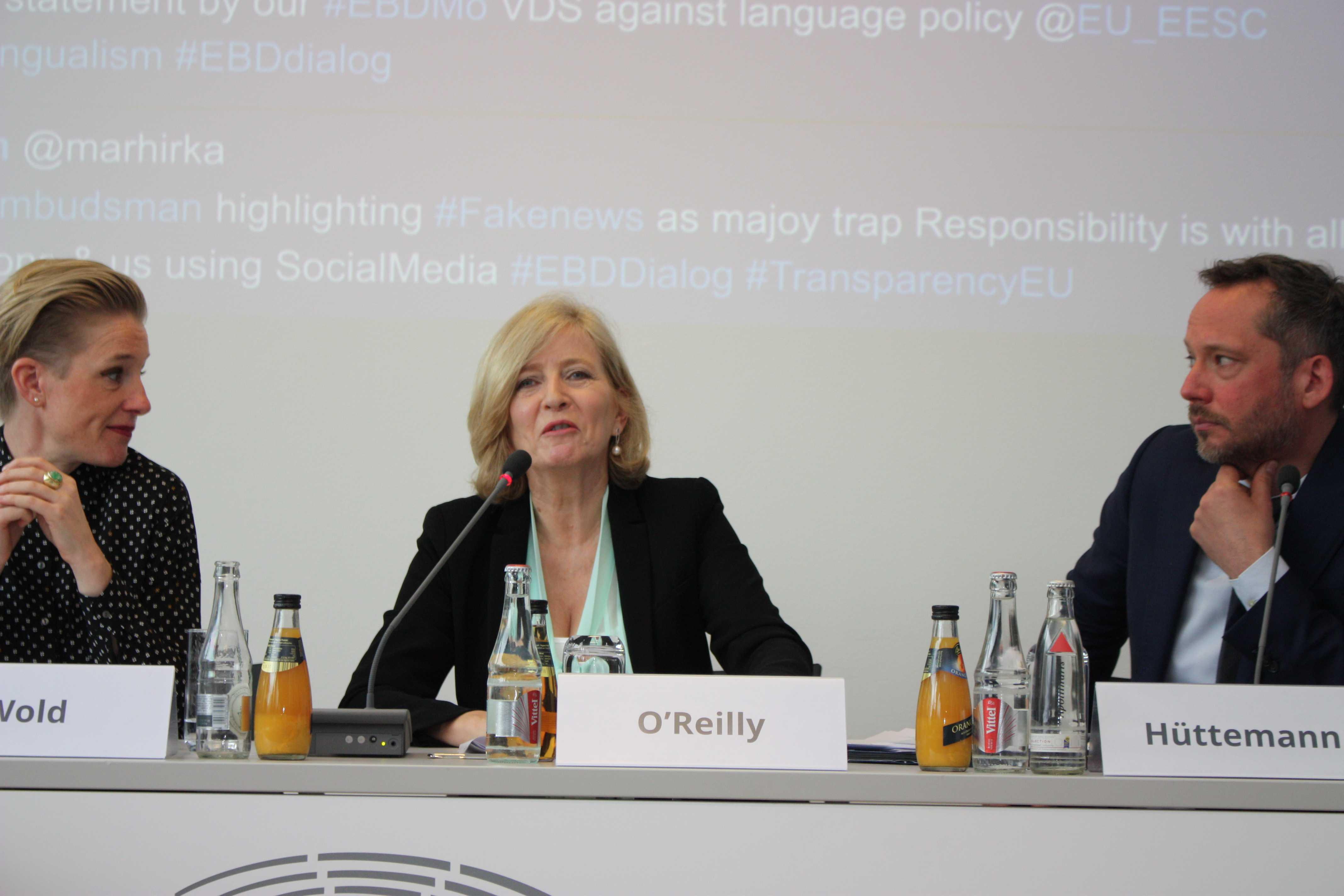 Nicht nur Transparenz, sondern echter Durchblick | EBD Dialog mit Emily O'Reilly