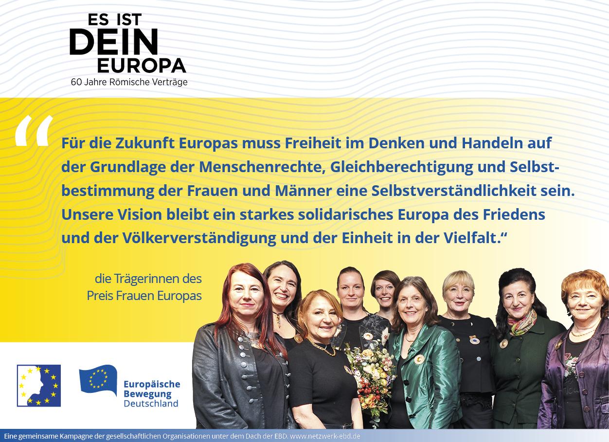 Es ist Dein Europa! Multiplikatorenkampagne der EBD nimmt Fahrt auf