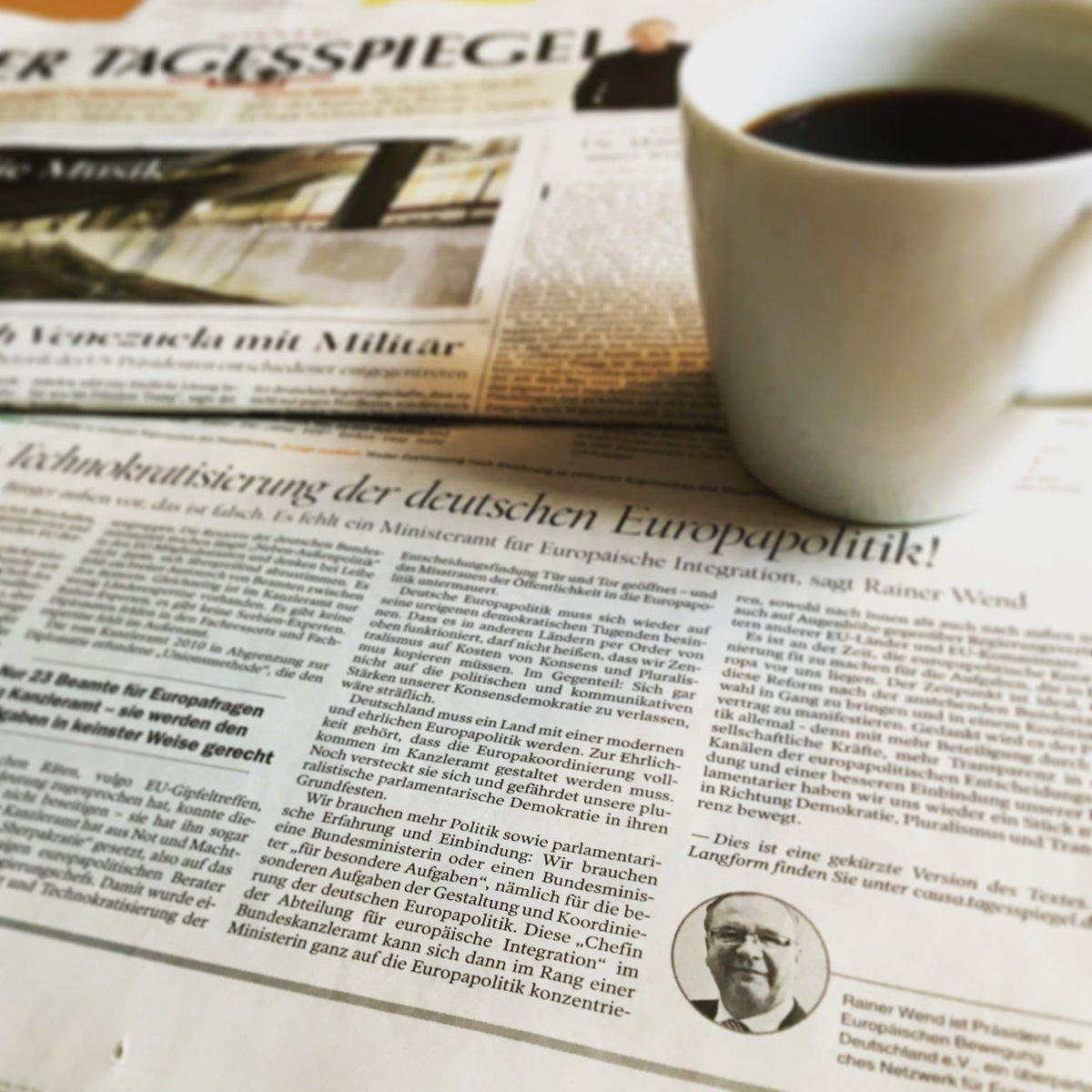 Wir brauchen eine Bundesministerin für europäische Integration | Wend im Tagesspiegel