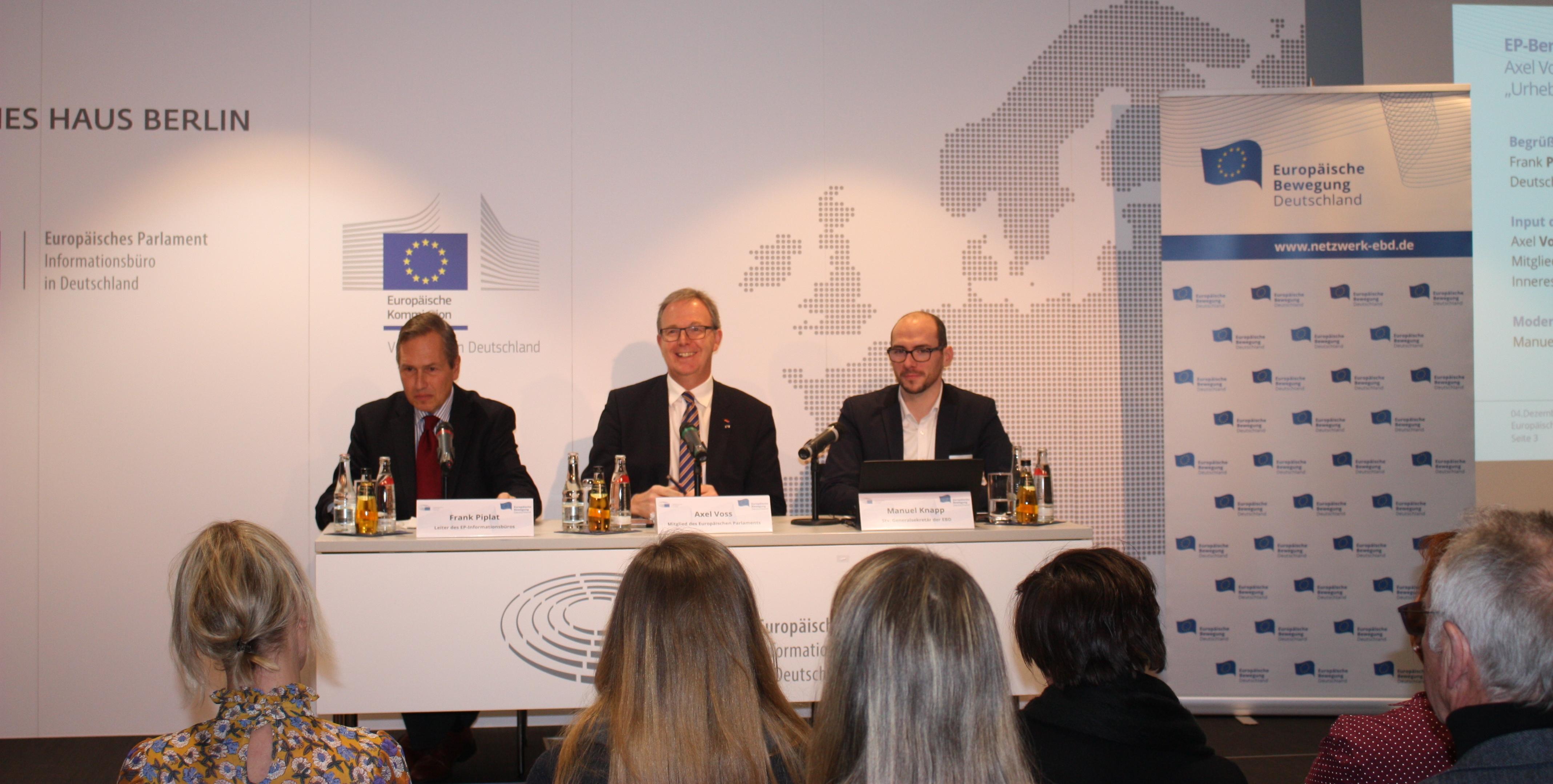 EP-Berichterstatter im Dialog | Neue Zeiten für das Urheberrecht ?