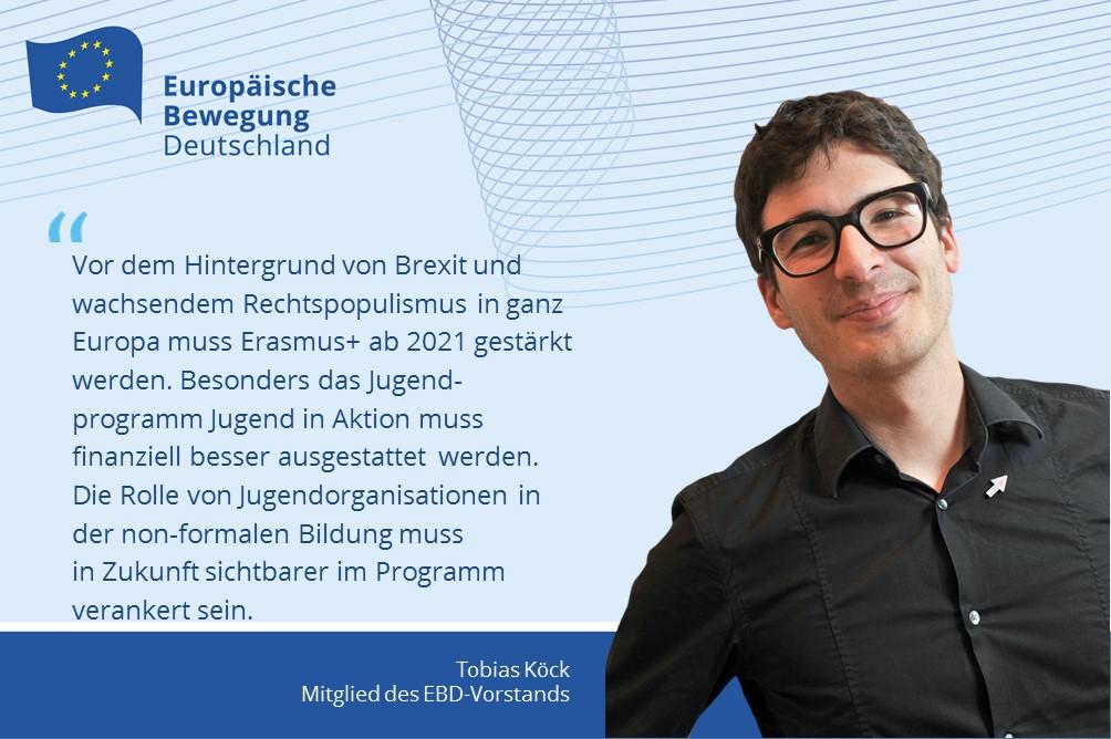 Tobias Köck | Erasmus+ muss weiter gestärkt werden – So auch die non-formale Bildung