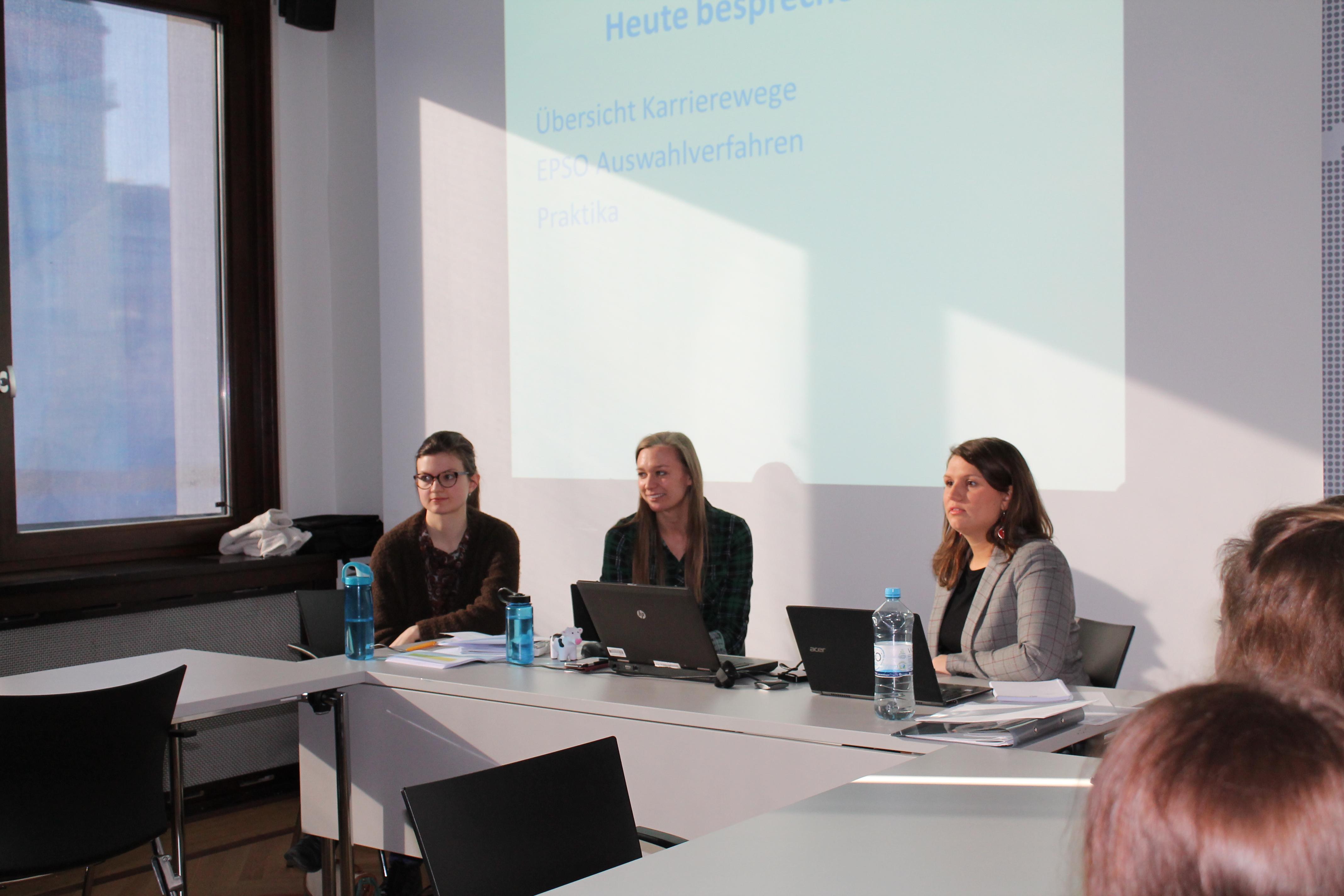 Berliner EU Careers Student Ambassadors informieren zu Karrierewegen in die EU