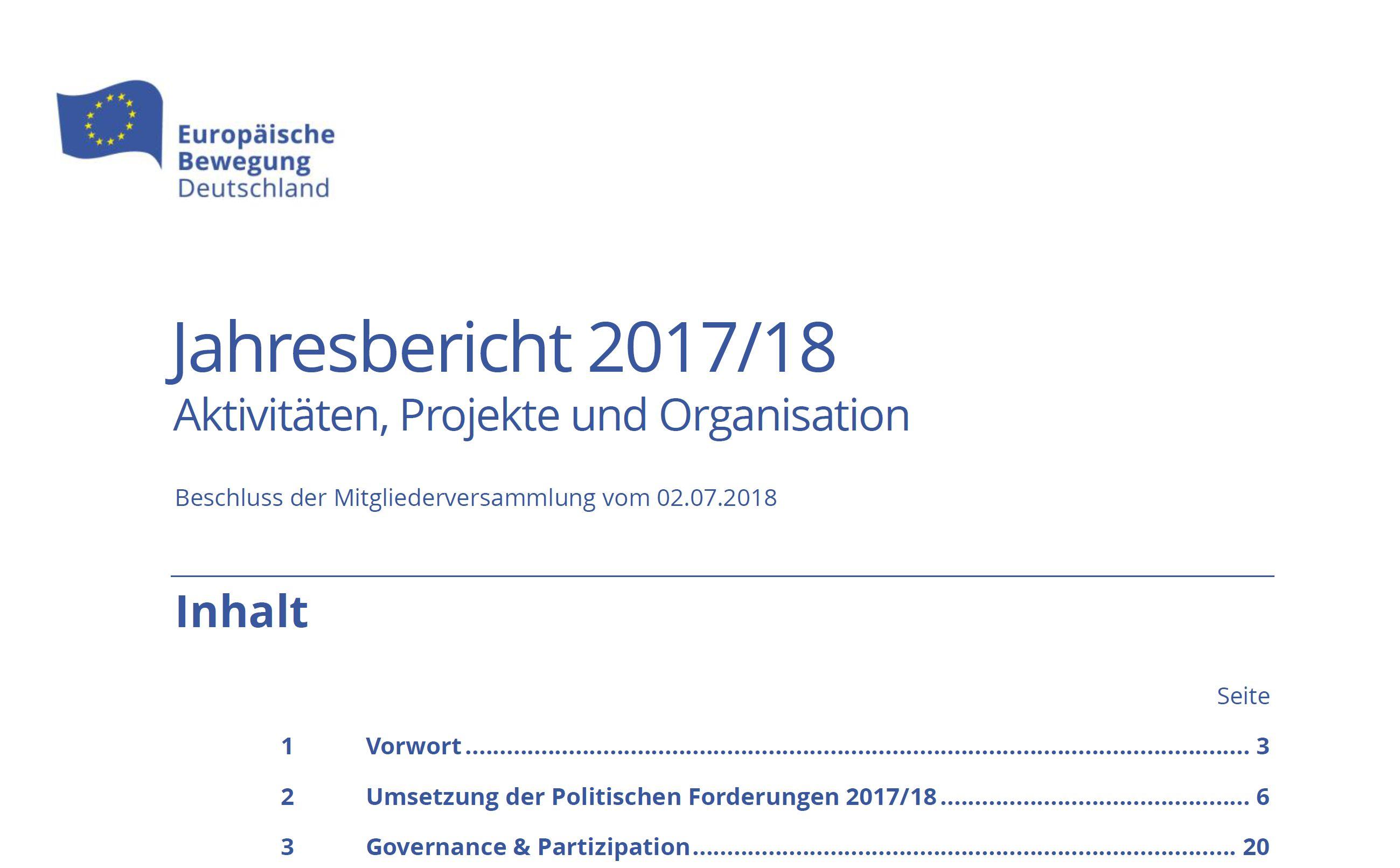 Jahresbericht 2017/18