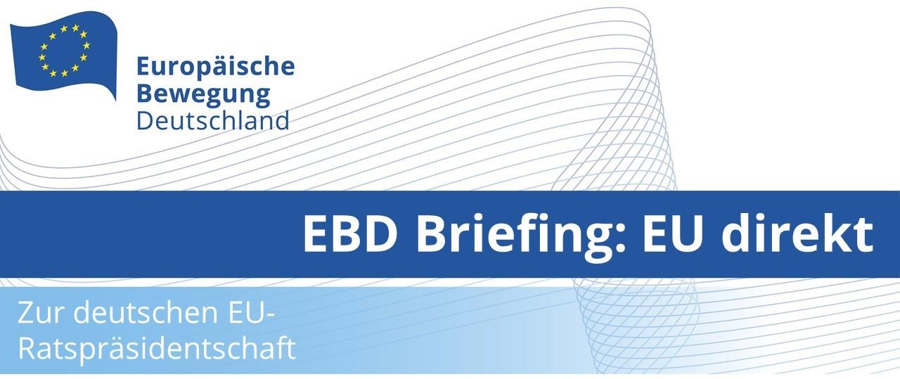 EBD Briefing: EU direkt mit Werner Hoyer, Präsident der EIB