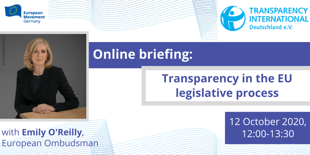 Online briefing: Transparency in the legislative process of the European Union